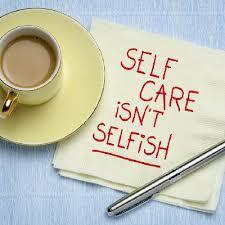 Graphic saying Self-Care Isn't Selfish