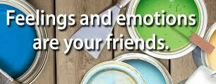 Graphics saying emotions are your friends