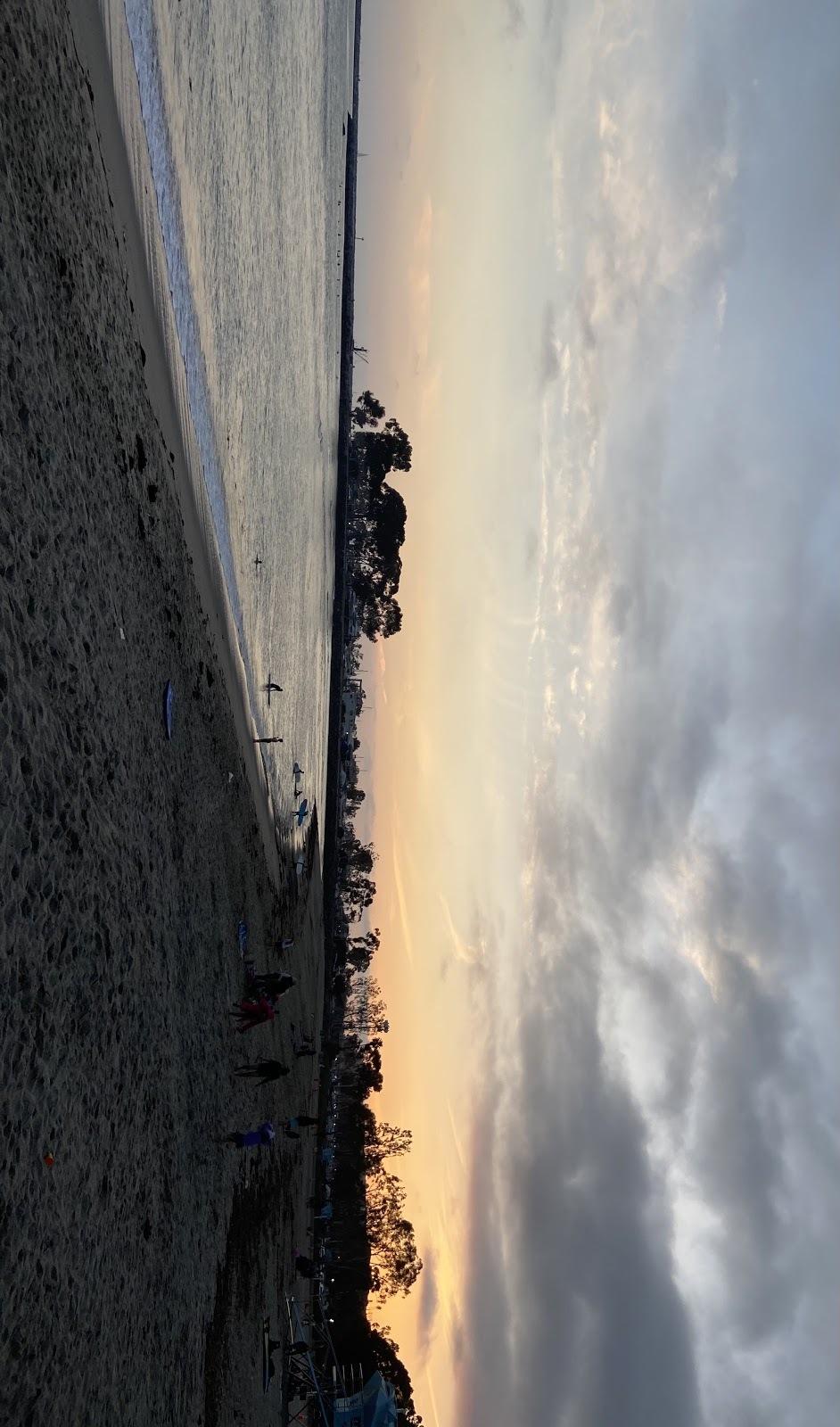 sunset at Doheny beach