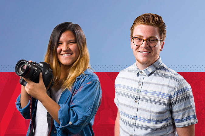 Two student bloggers for the Becoming Biola blog