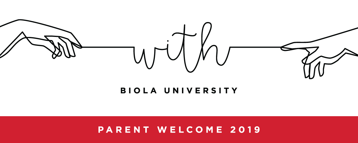 "Biola Parent Welcome 2019 Banner — ""With"" theme"