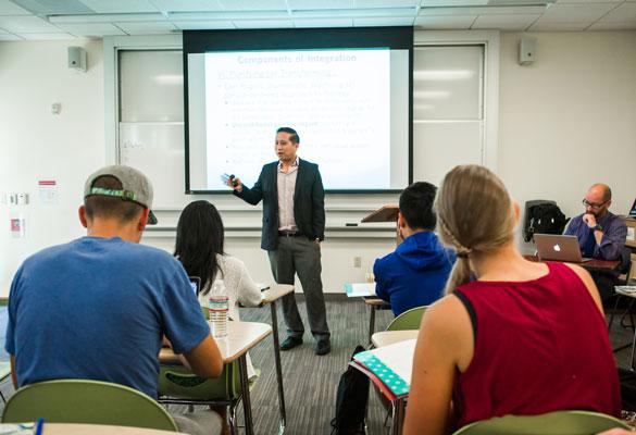 Rosemead professor teaching students
