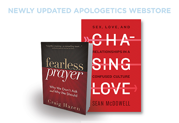 Two books featured from Apologetics Store